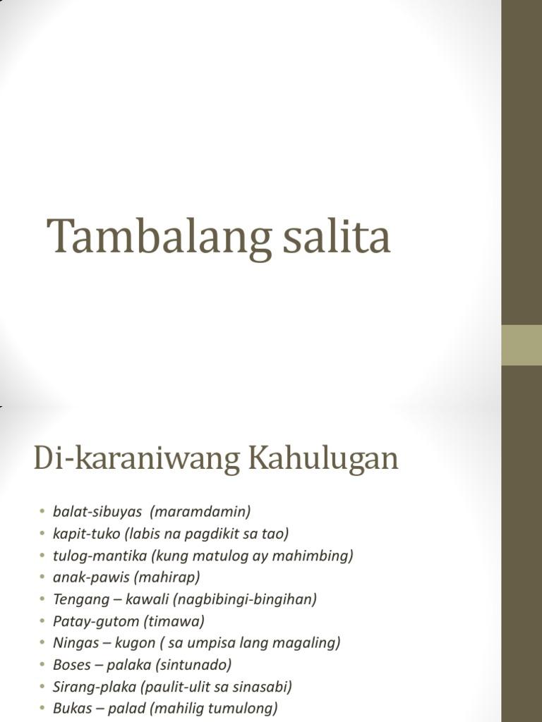 Tambalang Salita