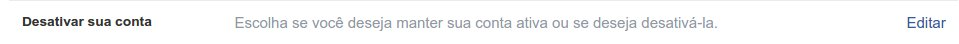 Como desativo o perfil do Facebook