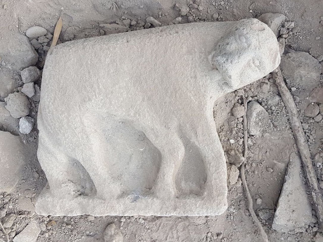 2,000 year old lioness statue discovered in pile of dirt in Israel