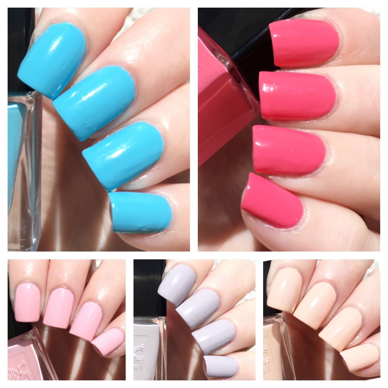Nails Inc Coconut Brights Spring Summer Mini Gel Effect Collection Swatches Review