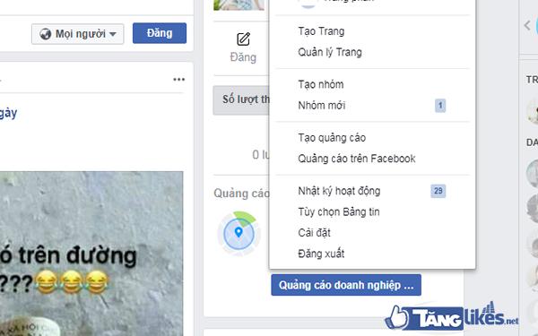 dang xuat tai  khoan facebook tu xa