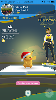 Santa Hat Pikachu seen while running