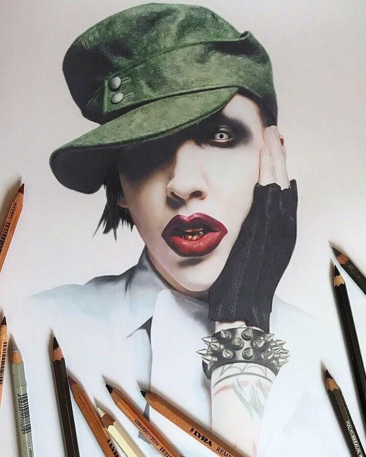 10-Marilyn-Manson-Alena-Litvinova-Realistic-Portraits-www-designstack-co