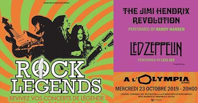 The Jimi Hendrix Revolution et Letz Zep seront à l'Olympia pour Rock Legends