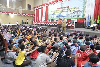 360 Peserta Pramuka Penggalang Kabupaten/Kota se-Provinsi Kepri Kunjungi Kantor DPRD Kepri