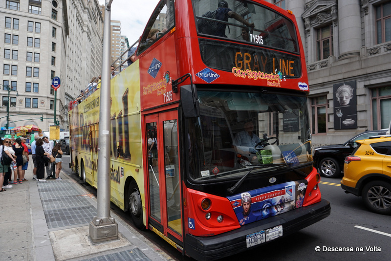 Ônibus Gray Line CitySightseeing Hop-on Hop-off NY