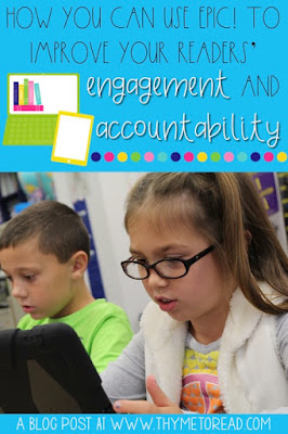 Find out how an EPIC! app can help improve your literacy centers, student accountability and individual student conferences!