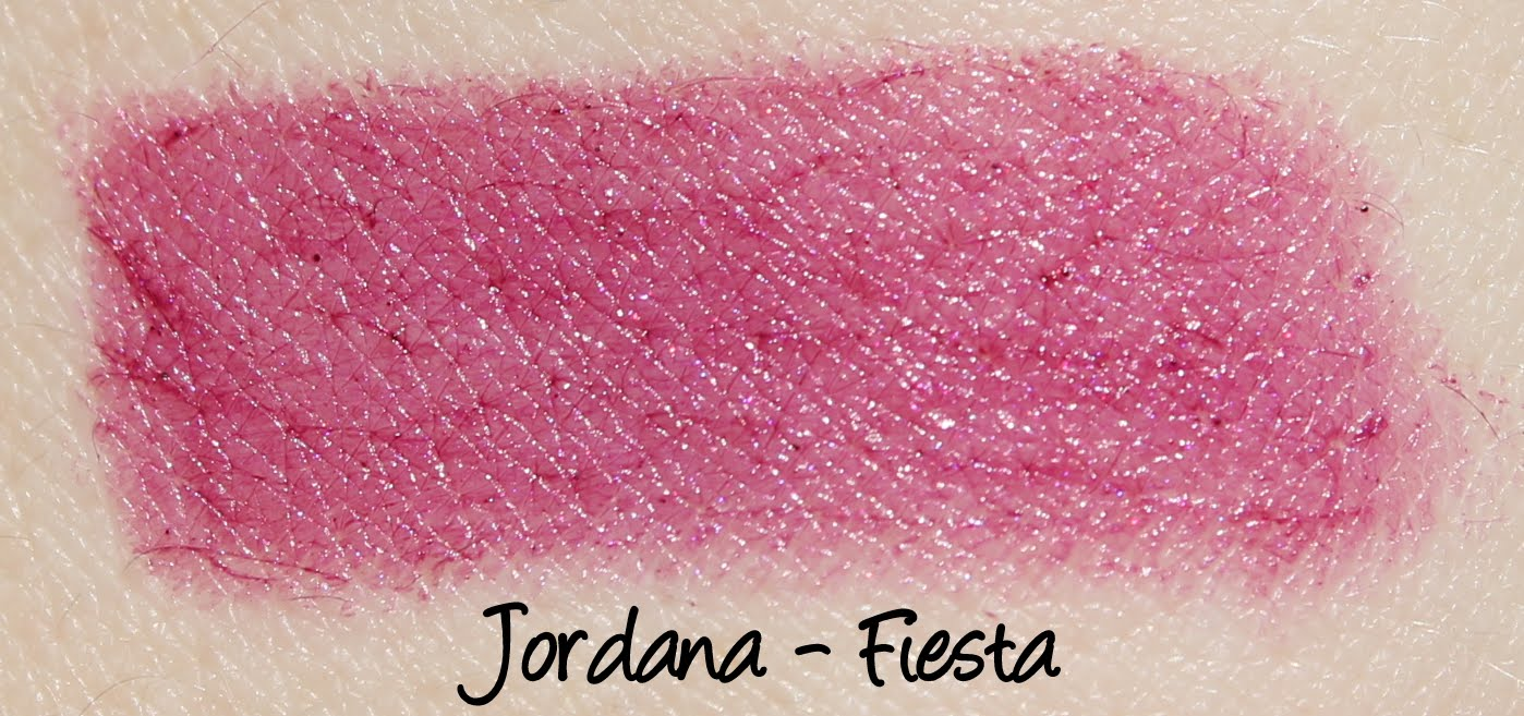 Jordana Lipsticks - Fiesta Swatches & Review