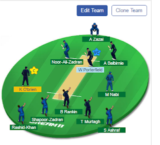 IRE VS AFGH Dream11 Team Prediction, IRE VS AFGH Playing 11, IRE VS AFGH Dream11 Exper Team