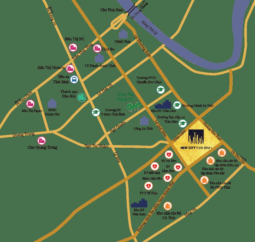 Vị trí khu đô thị New City Thái Bình