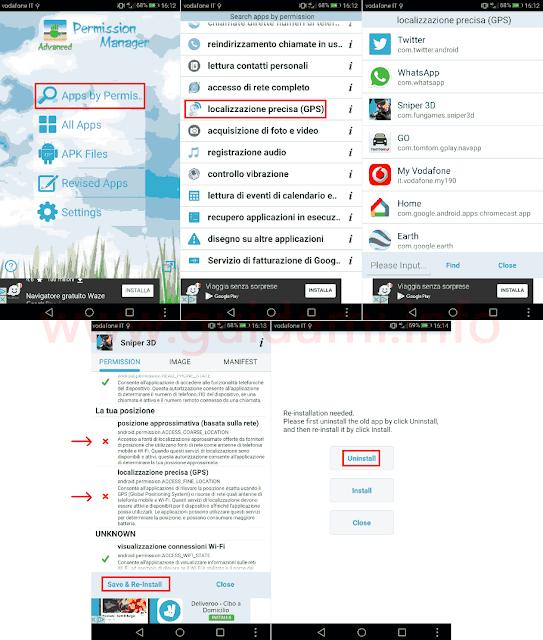App Advanced Permission Manager Android revocare permesso localizzazione