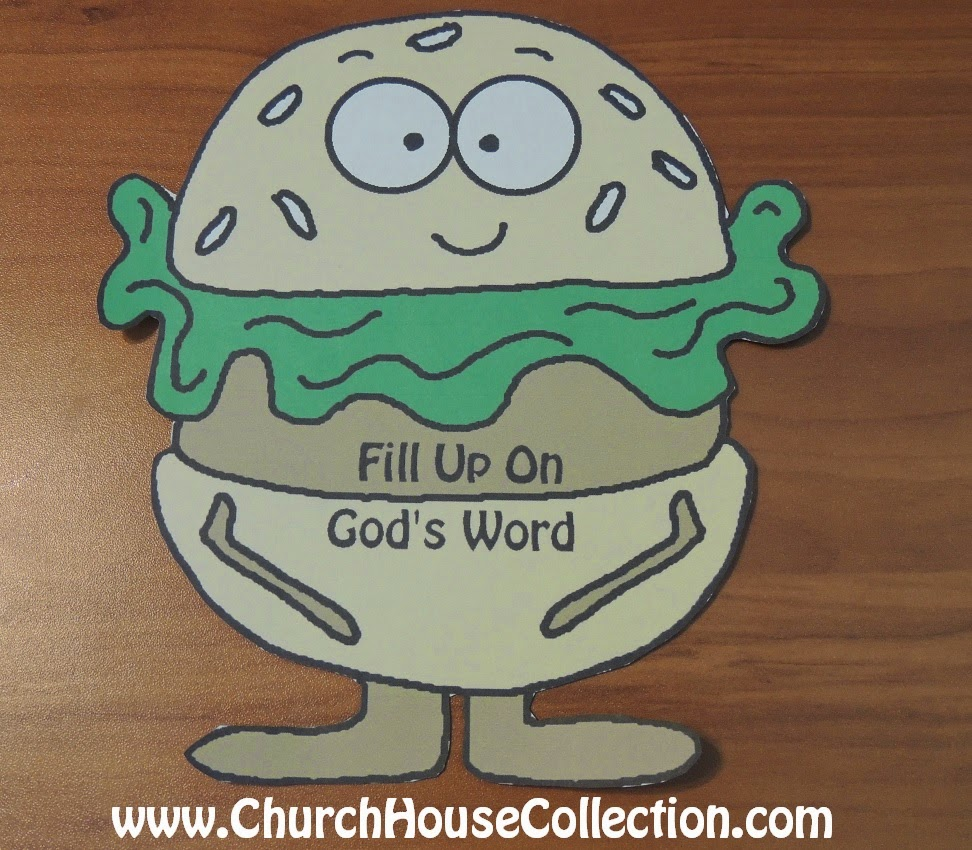 church house collection blog hamburger printable cutout template