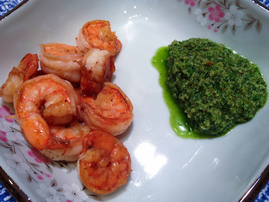 Shrimp with Cilantro Pesto