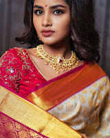 Anupama Parameswaran Latest Photo Shoot in Saree HeyAndhra.com