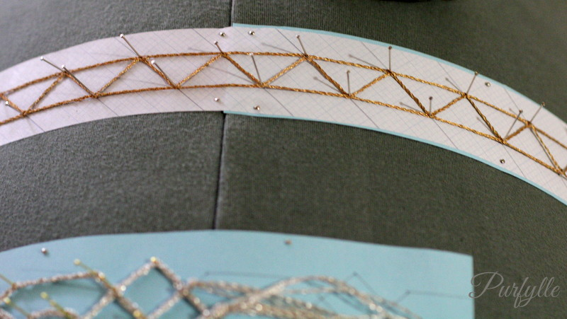 metallic lace in progress