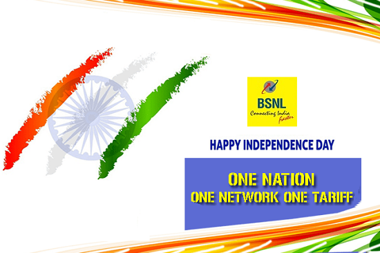 BSNL announces Double Data & Extra Talk Time Offers to its prepaid mobile customers on 71st Independence Day