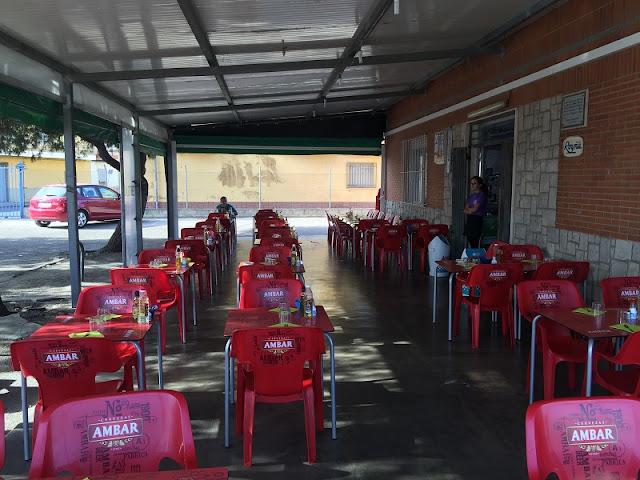 Terraza de la cooperativa de Mareny de Barraquetes