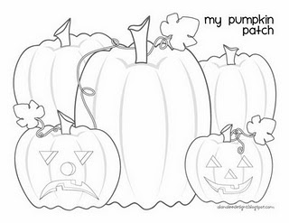transmissionpress: Pumpkin Patch Coloring Page