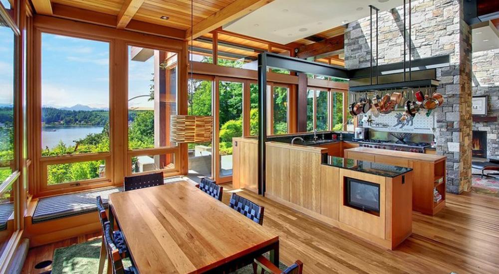 dapur rumah bergaya tradisional