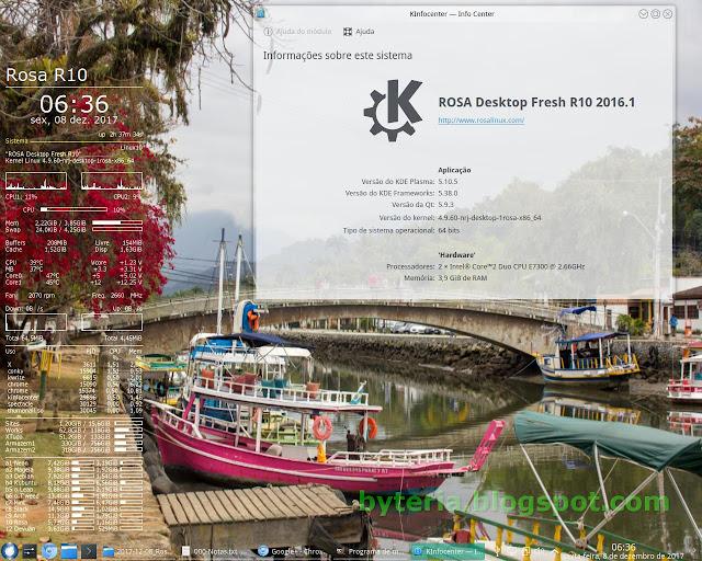 Linux Rosa Desktop Fresh R10 2016.1 instalado