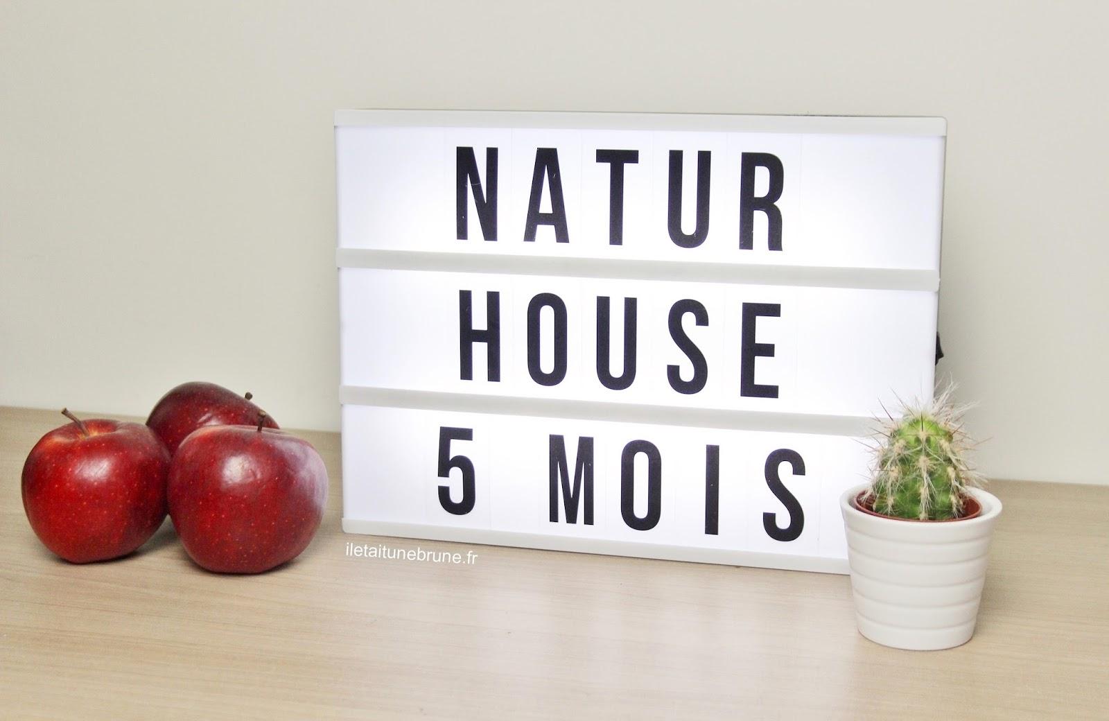 Suivi rééquilibrage alimentaire après 5 mois avis natur house