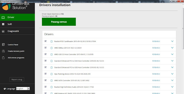 cara instal DriverPack Solution