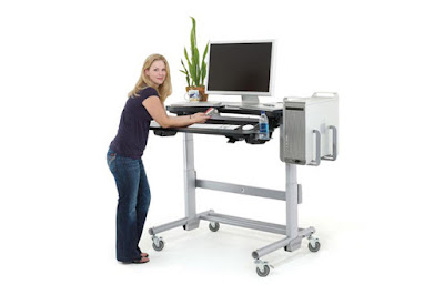 Avoid Hunching Over Your Stand Up Desk Surface