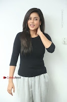 Telugu Actress Mishti Chakraborty Latest Pos in Black Top at Smile Pictures Production No 1 Movie Opening  0008.JPG