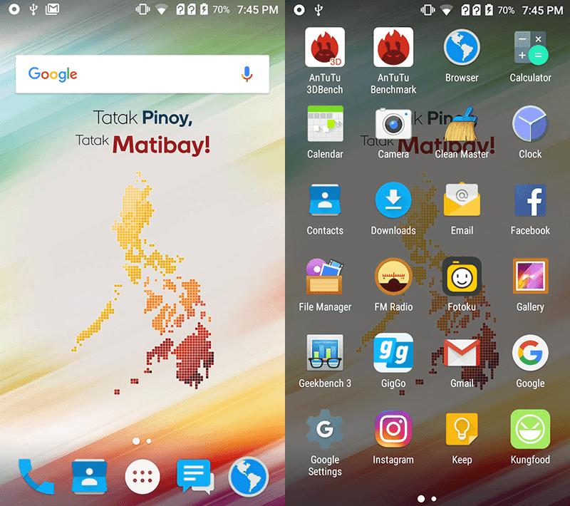 MyPhone's clean UI
