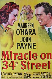 Original film poster for Miracle on 34th Street