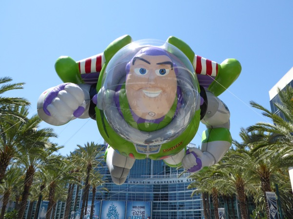 Giant Buzz Lightyear inflatable Disney D23 Expo