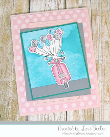 Celebrate card-designed by Lori Tecler/Inking Aloud-stamps from Lil' Inker Designs
