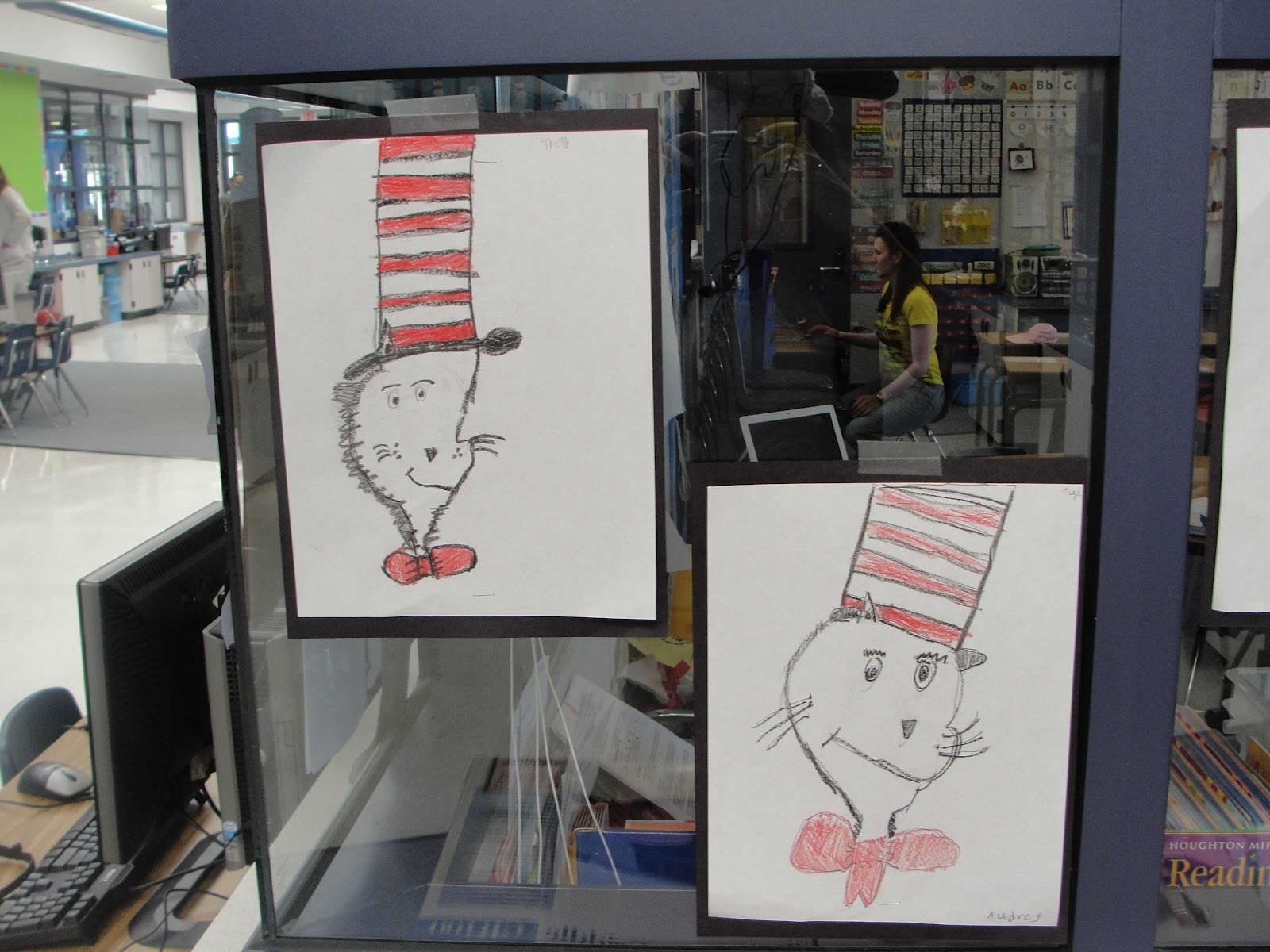 This is a picture of Exceptional Cat In The Hat Directed Drawing