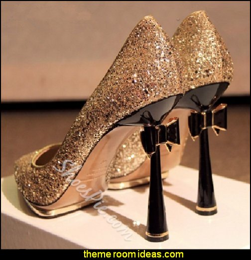 Fashionable Pointed-Toe Stiletto Heels With Bowtie