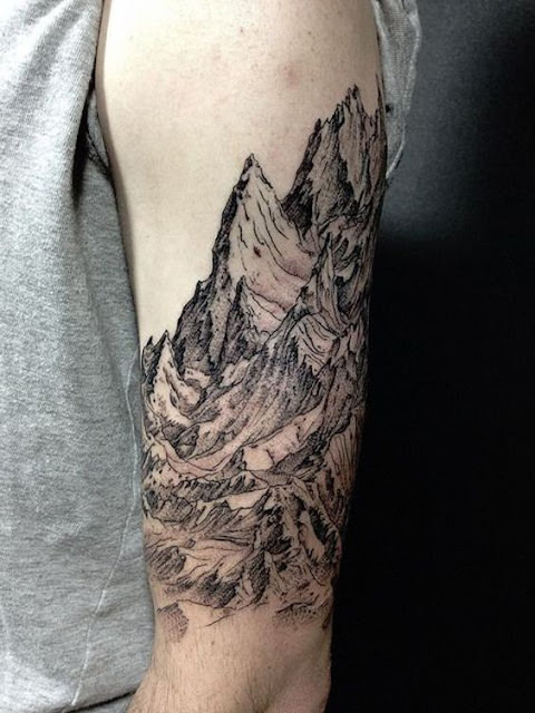 Awesome Mountain Sleeve Tattoos For Men