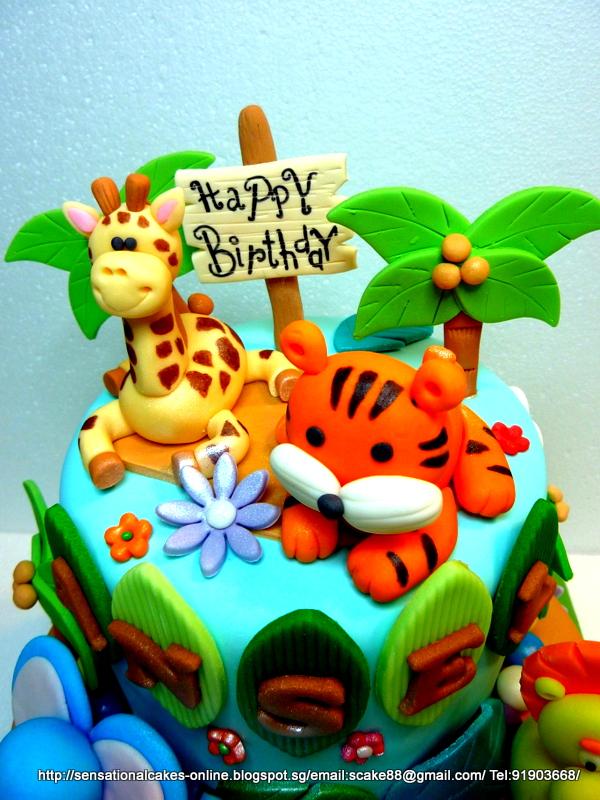 The Sensational Cakes Safari Theme Cake Jungle Theme