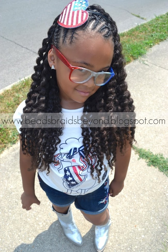 Criss Cross Cornrows With Two Strand Twist Out Twist