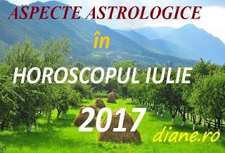 Aspecte astrologice în horoscopul iulie 2017
