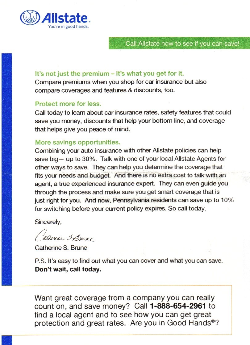 Amica Car Insurance >> Mail That Fails: Amica, Allstate, Wal-Mart: Bad timing on ...