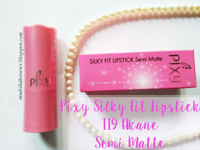 pixy silky fit lipstick akane semi matte