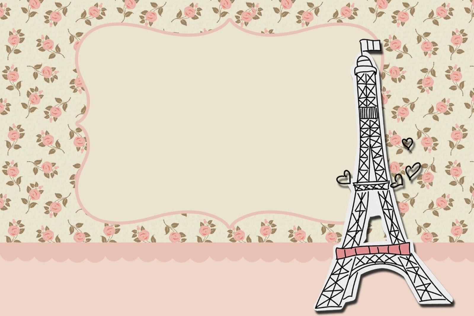 París con Rosas: Invitaciones para Imprimir Gratis.   Ideas y ...