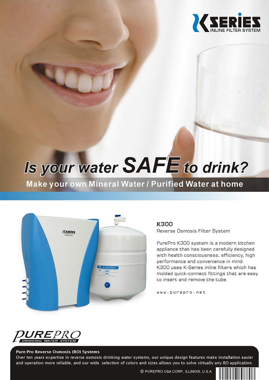 PurePro® K300 Reverse Osmosis Water Filtration System