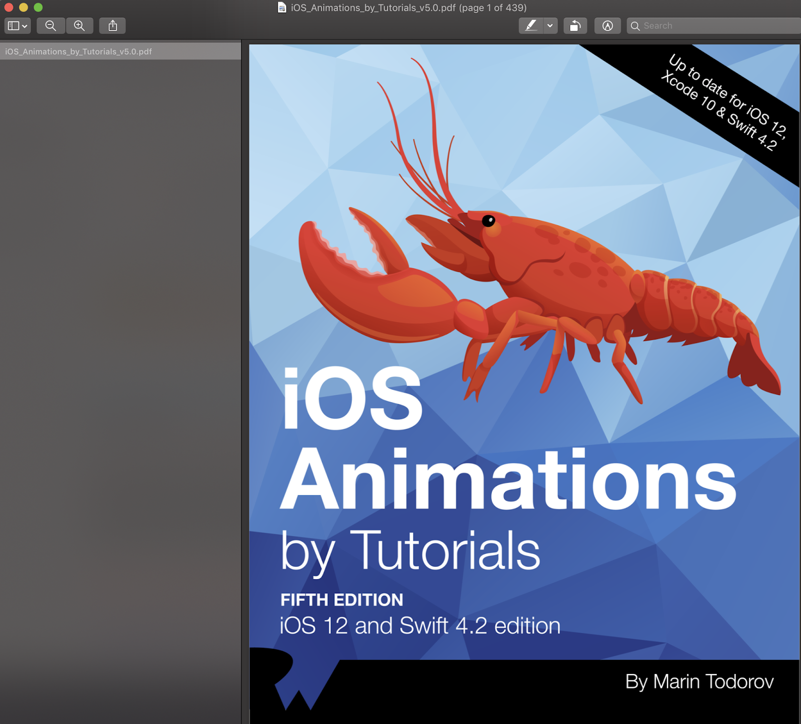 Download PDF IOS Animations By Tutorials Fifth Edition IOS