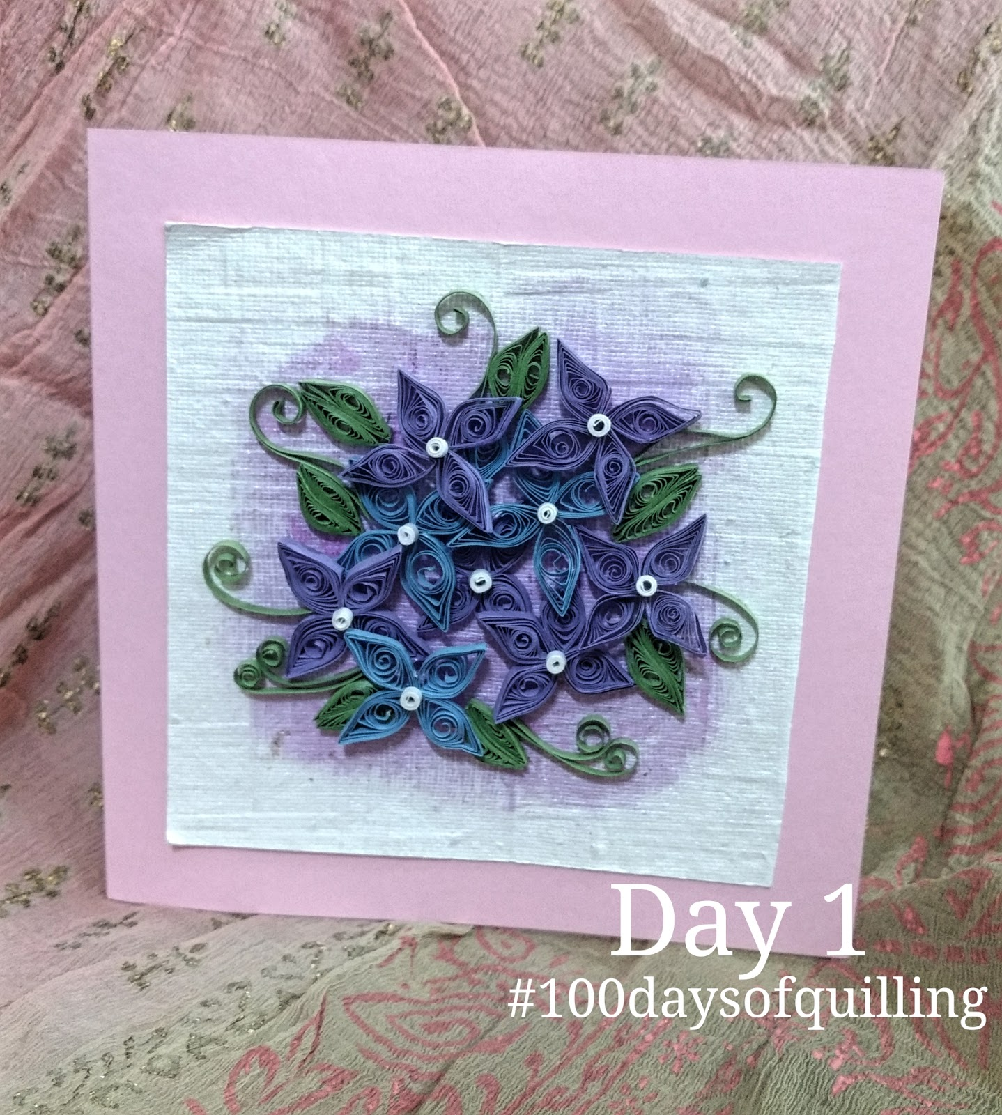 mycraftworks 100 days of quilling challenge by Just love crafts