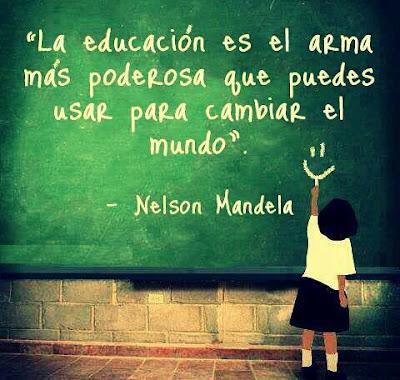 Frase de Nelson Mandela sobre la educación