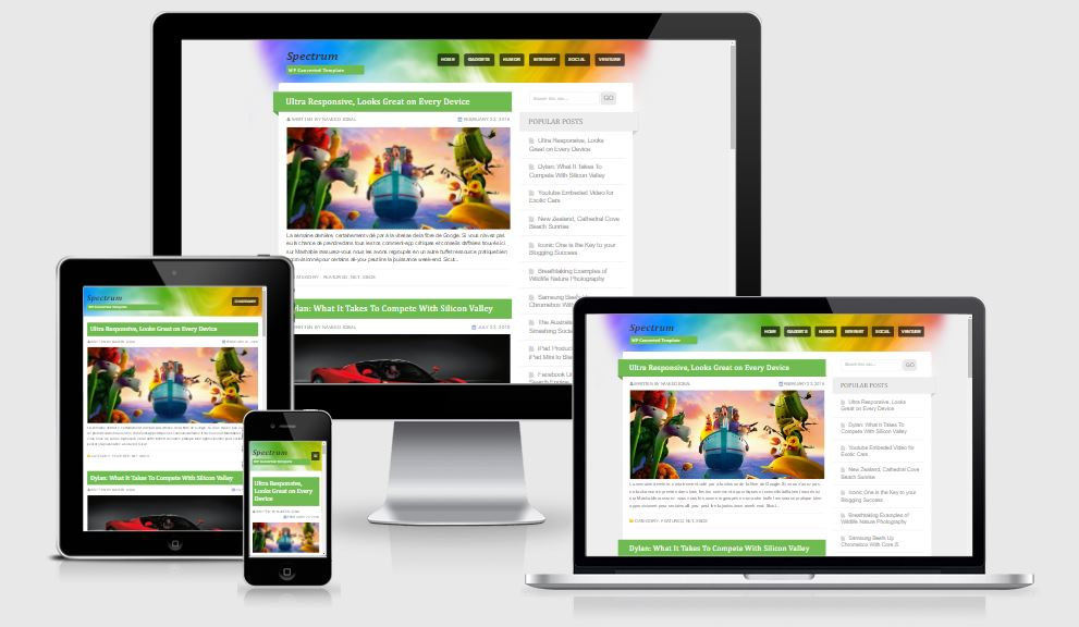 Spectrum Blogger Template