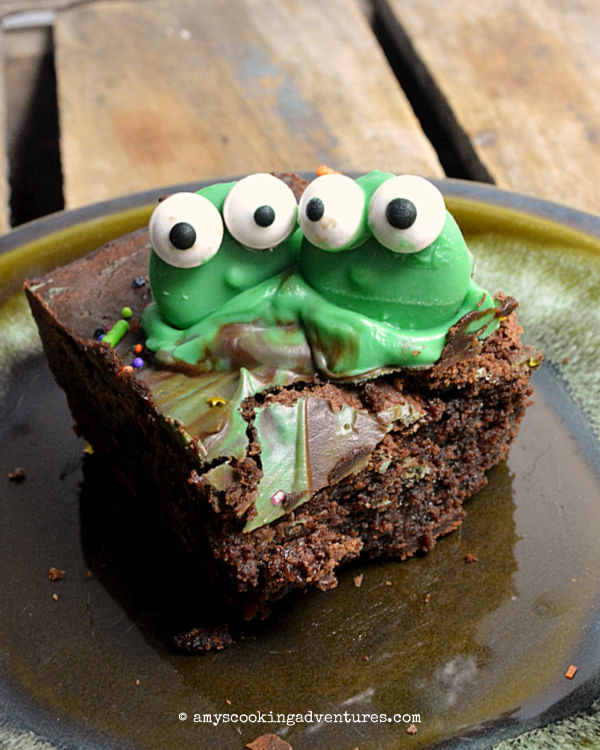 Mint Chocolate Chip Brownies or Bijou Brownies by Amy's Cooking Adventures