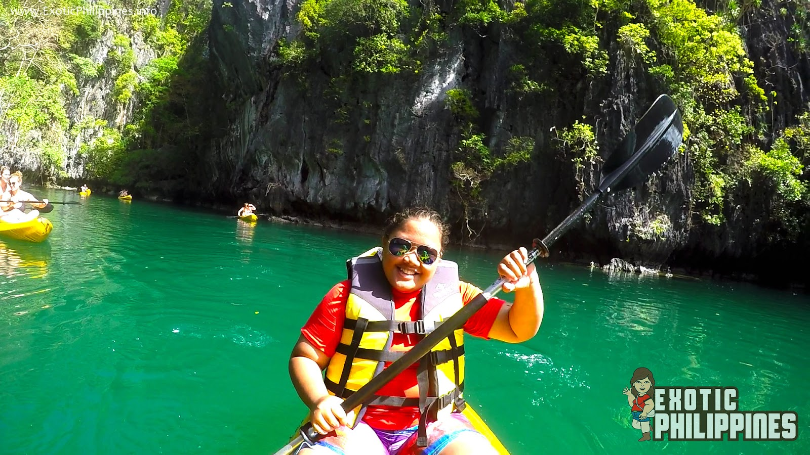 Kayaking at the Beautiful Small Lagoon of El Nido Exotic Philippines Travel Blog