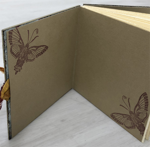 Handmade Book with PaperArtsy Fresco Finish Acrylics and HP1109 by Nikki Acton