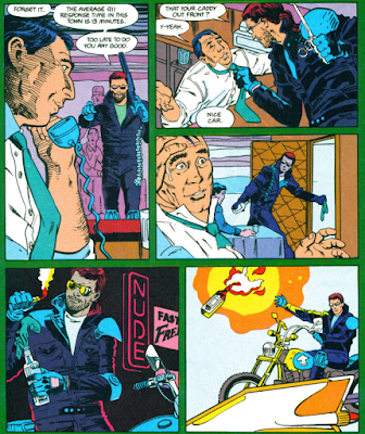 panels from Green Arrow v2 #17 (1989). Property of DC comics.